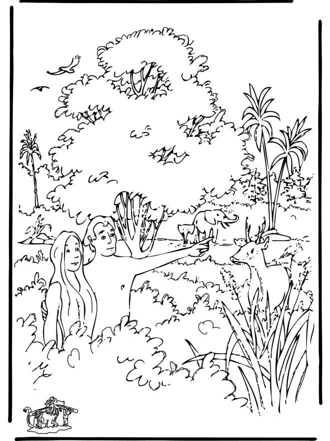 creation-coloring page | Bible class ideas