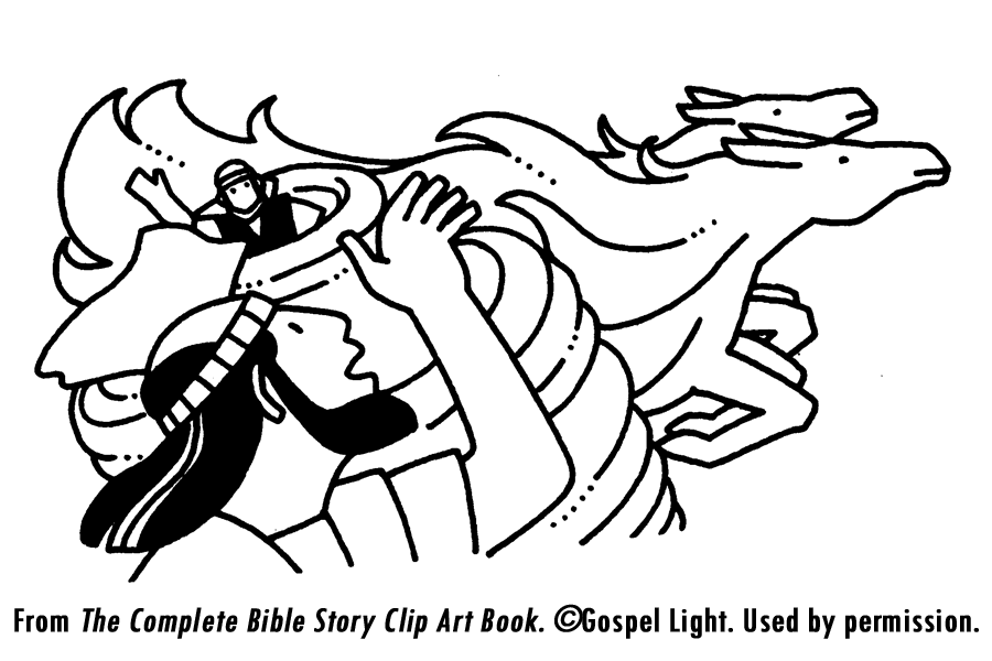 elijah chariot of fire coloring page coloring home