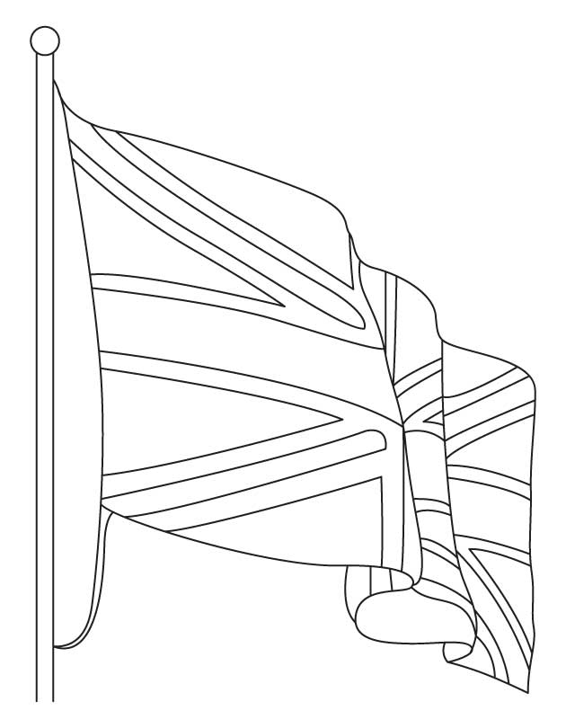 British Flag Coloring Page Coloring Home Uk Flag Coloring Page