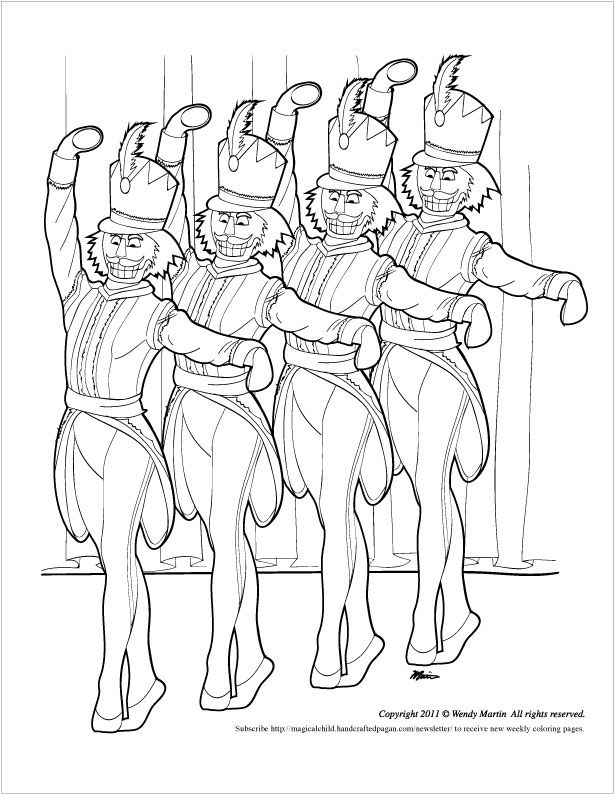 Nutcracker ballet coloring page coloring home for Nutcracker ballet coloring pages