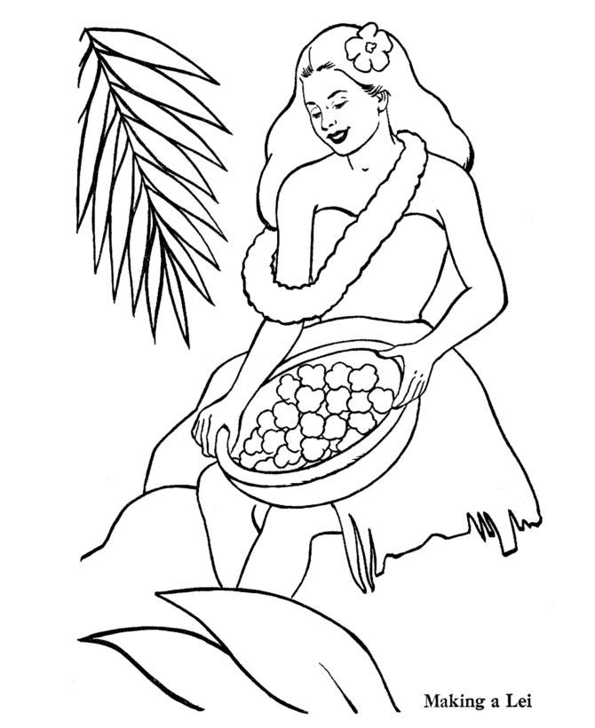 hawaii coloring pages - photo#24