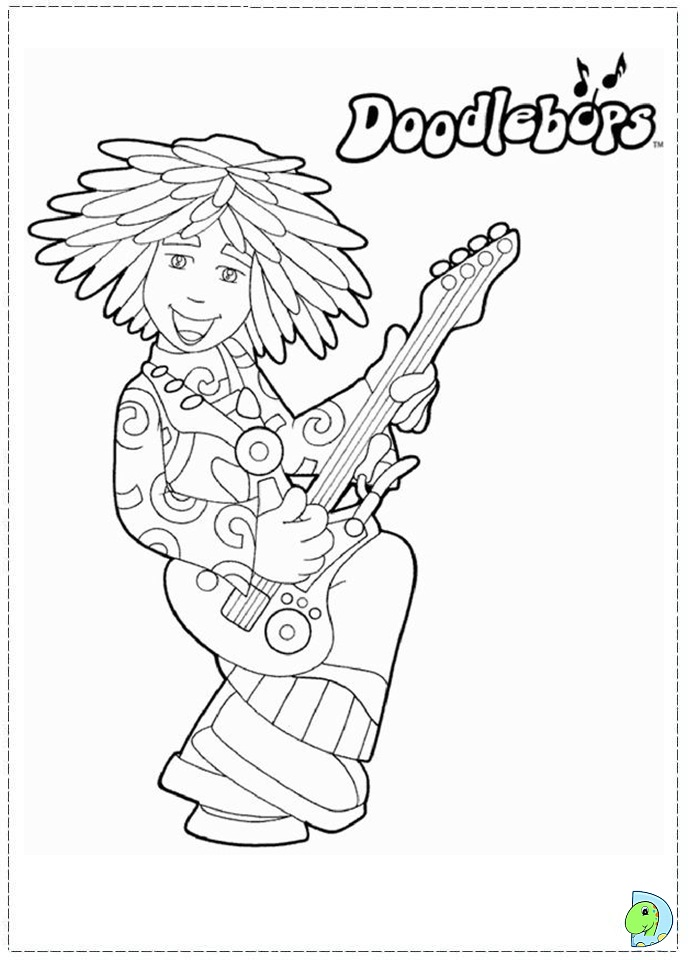 printable doodlebop coloring pages - photo#5