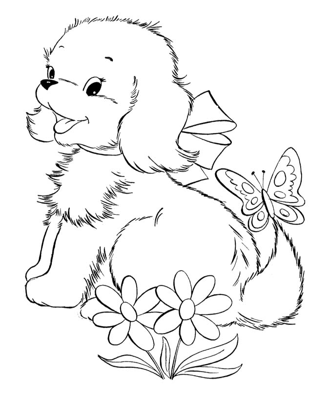 Coloring pages of puppies and kittens az coloring pages for Cute puppies coloring pages