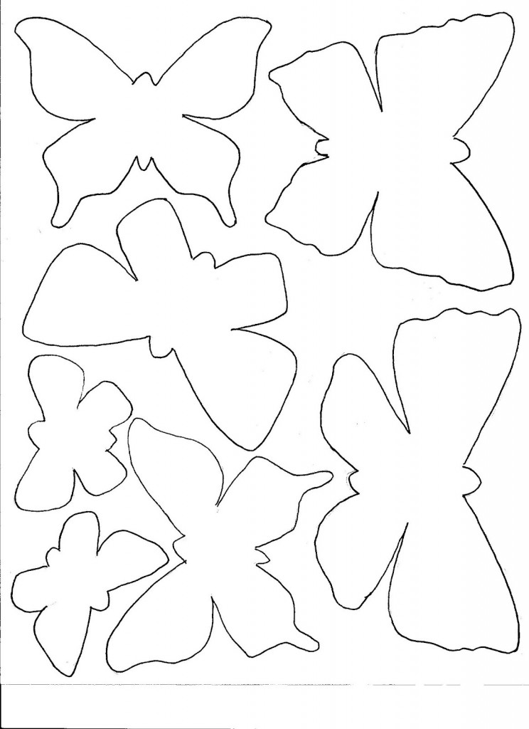 Blank Butterfly Template Coloring Pages