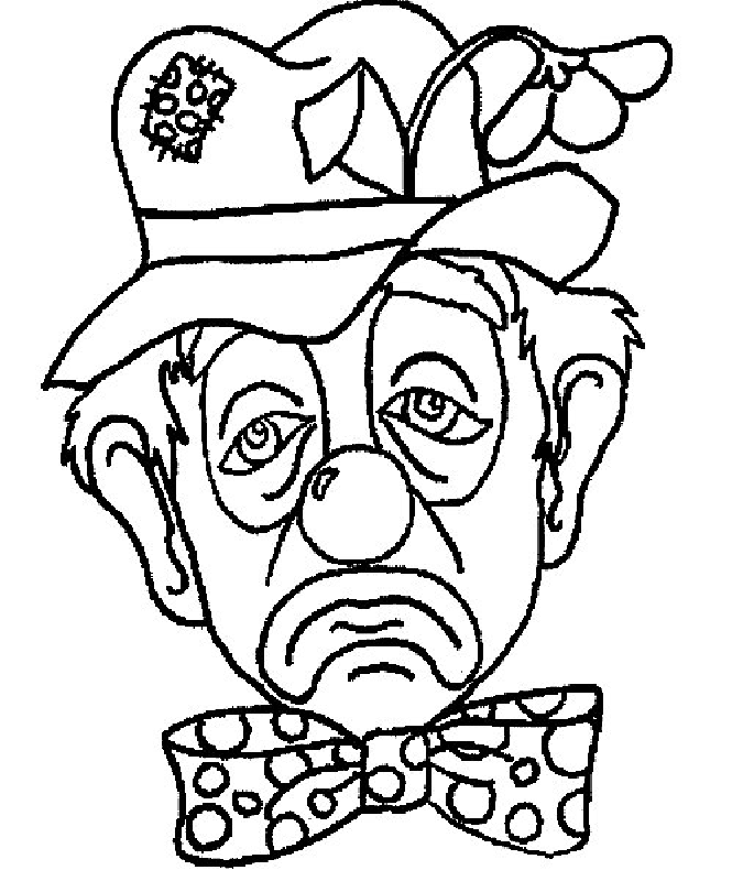 Clown pictures to colour coloring home for Clowns coloring pages