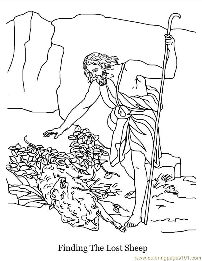 lost sheep parable coloring pages - photo#20