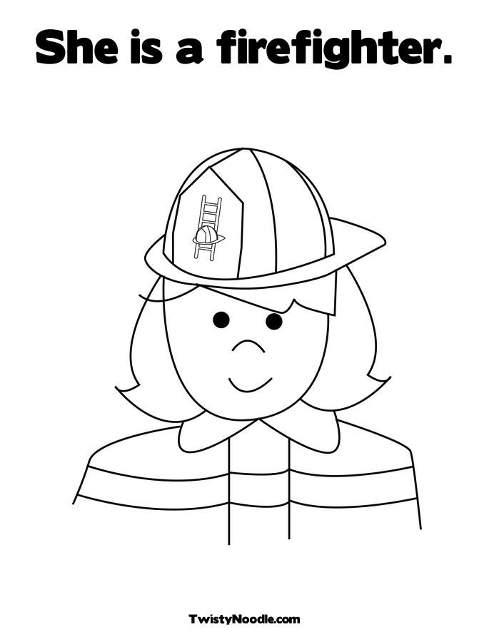 coloring pages of fire hats - photo#14