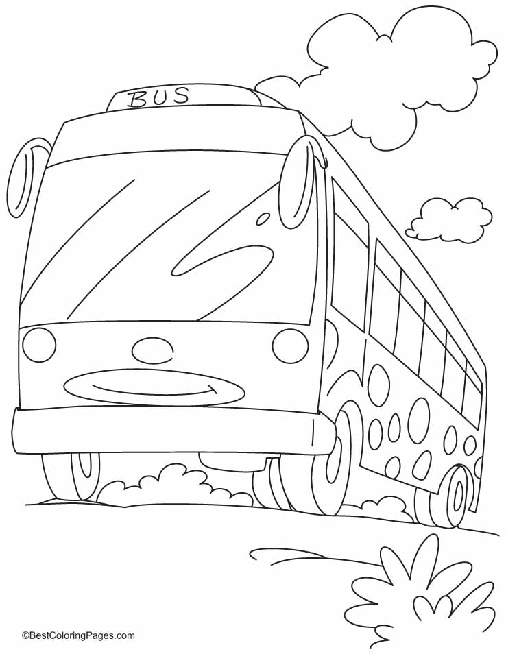 Smart Bus For Travellers Coloring Pages