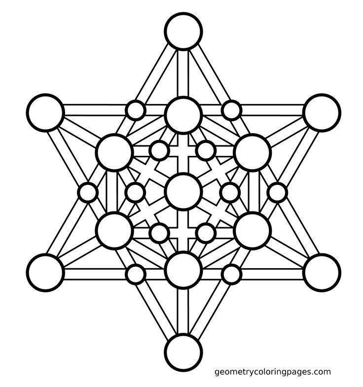 Geometric Coloring Pages Pdf Free Printable : Sacred geometry coloring page merkaba