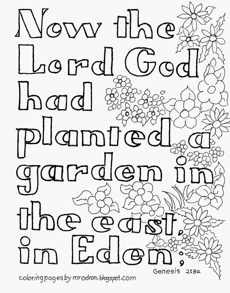 Garden Of Eden Coloring Page Coloring Home