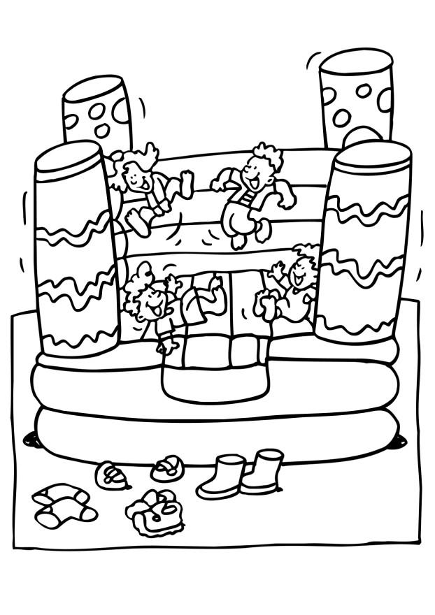 BOUNCY CASTLE Colouring Pages
