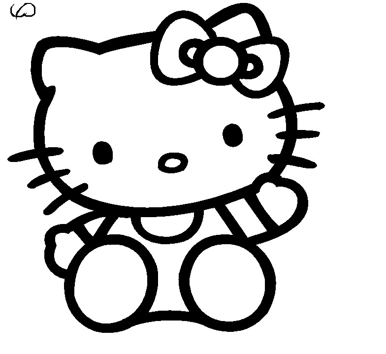 how to make hello kitty drawing
