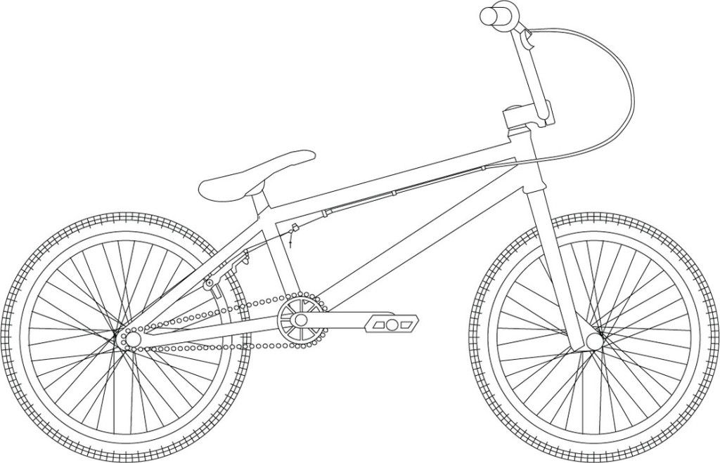 Bmx coloring pages coloring home for Bmx coloring pages