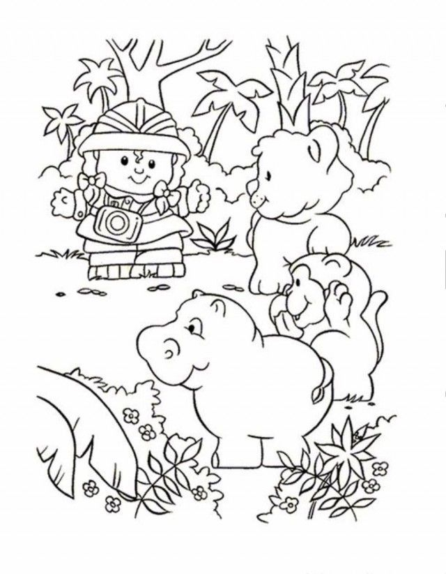 Print Or Download Little People Free Printable Coloring