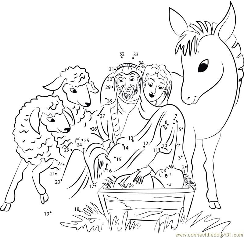 Dot To Dot Christmas AZ Coloring Pages
