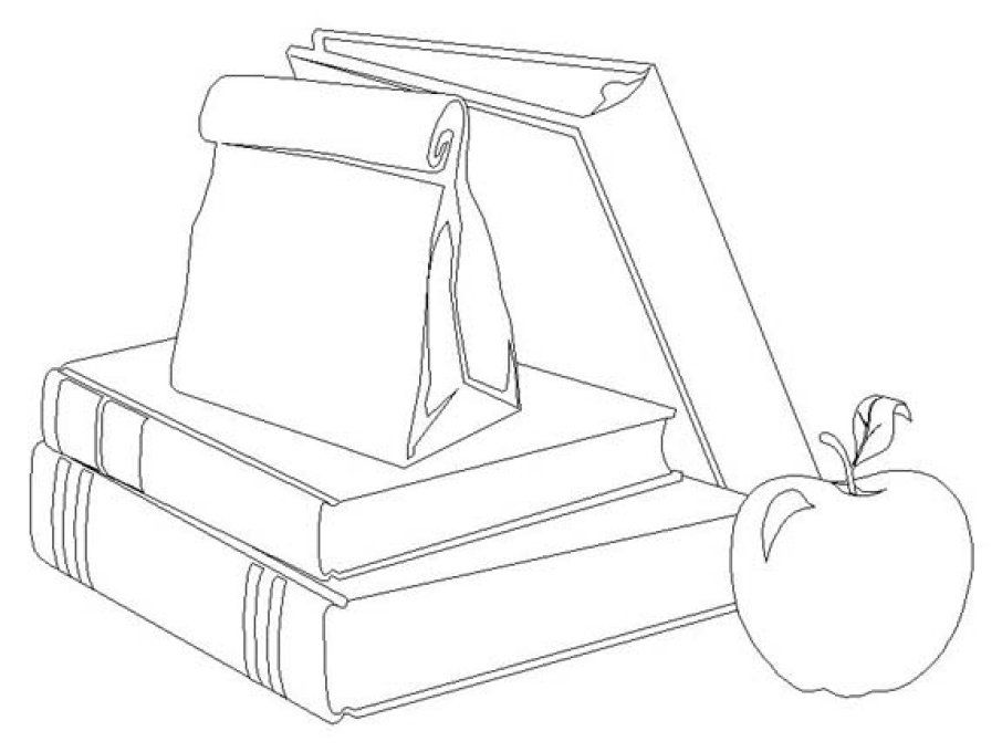 coloring pages school items - photo#5