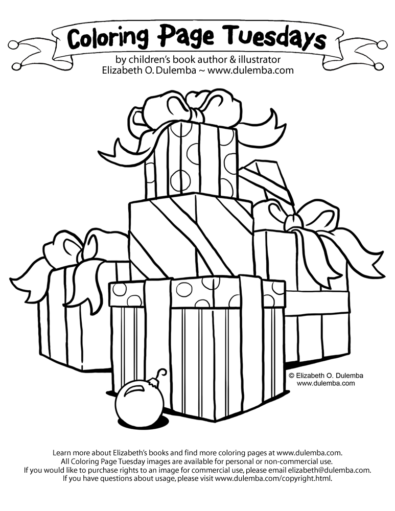 dulemba: Coloring Page Tuesday! - Gifties!