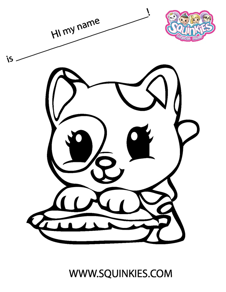 squinkies coloring pages online - photo#4