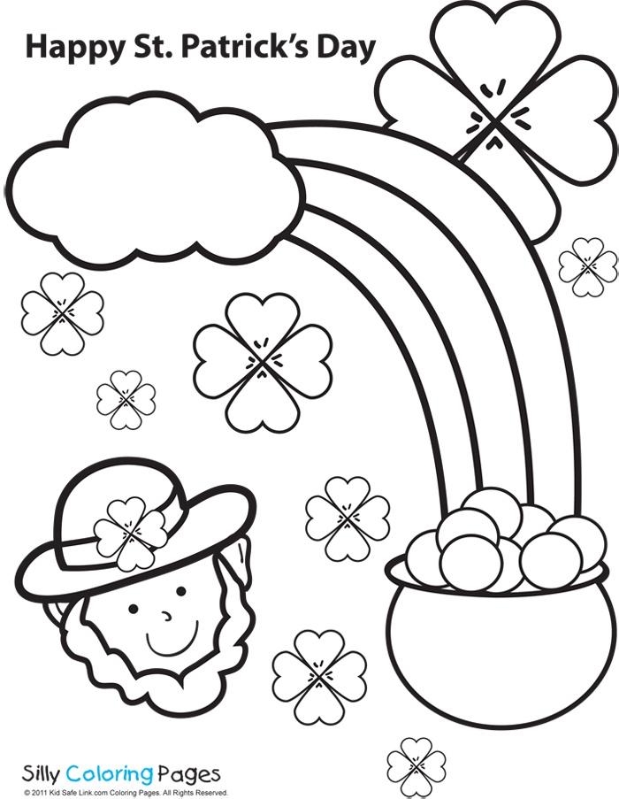 printable st patricks day coloring pages - free printable st patrick day worksheets az coloring pages