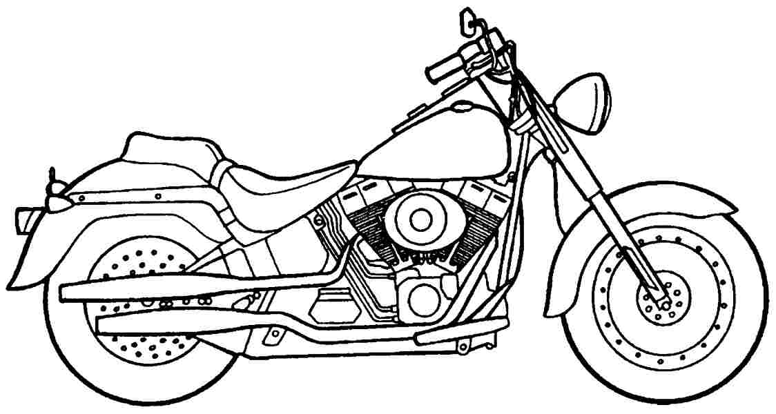 bike coloring pages - photo #25