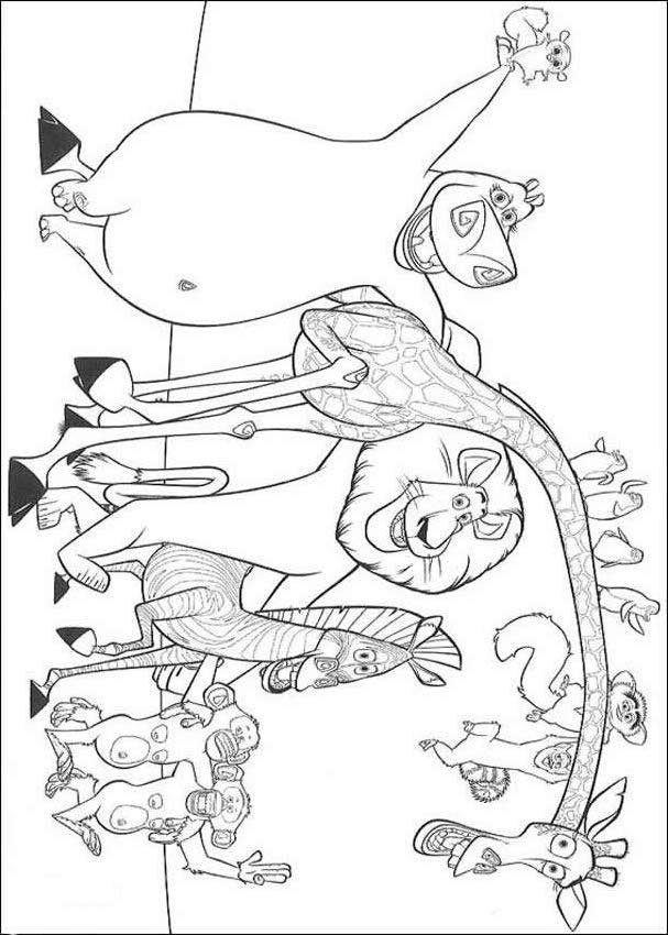 alex the lion coloring pages - photo#28