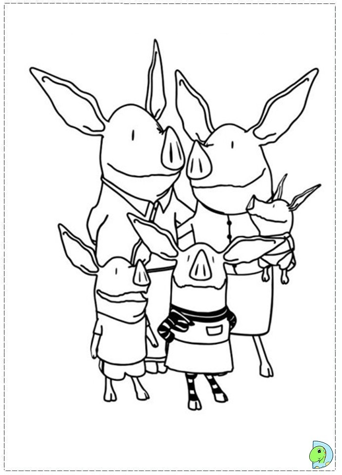 Olivia Pig Coloring Pages