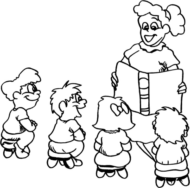 coloring pages of a teacher - photo#11