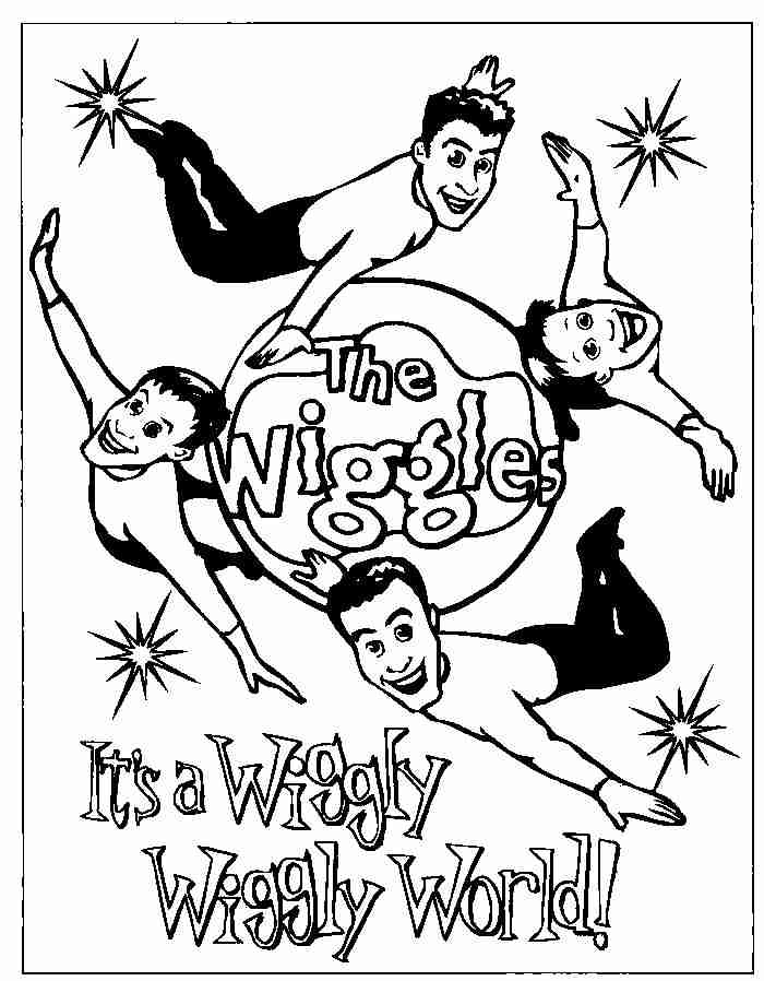 Wiggles Coloring Pages Free