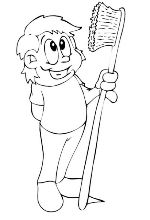 Dental health coloring pages coloring home for Tooth and toothbrush coloring pages