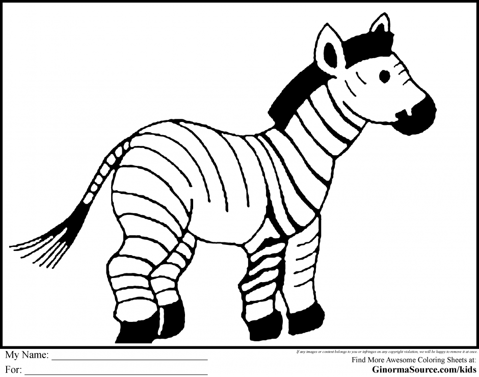zoo animals coloring pages zebra - photo#9