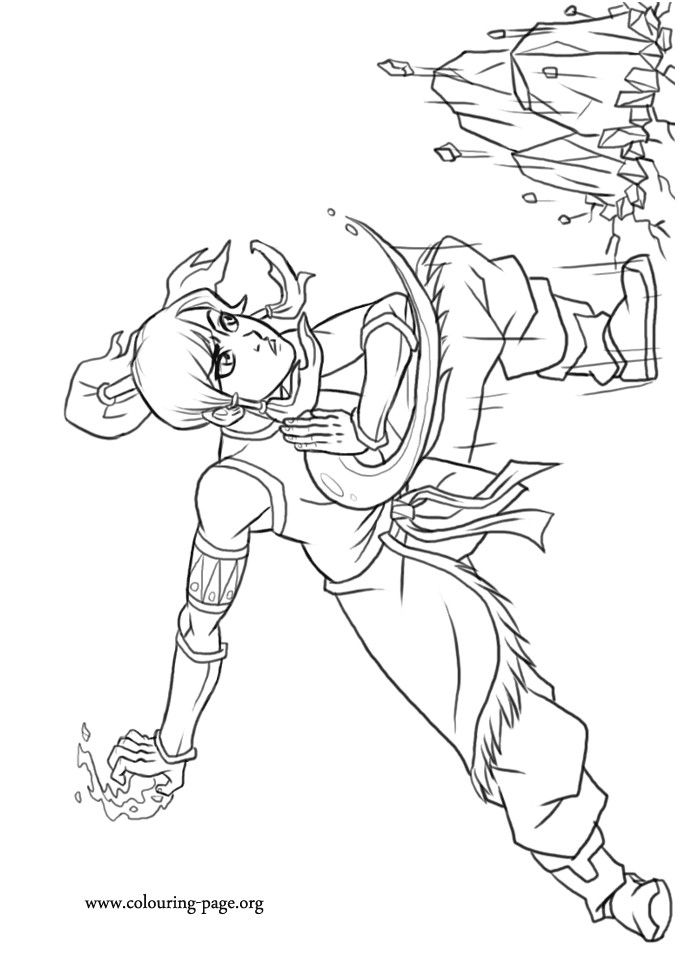 avatar katara coloring pages | Coloring Pages For Kids