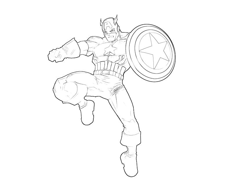 Free Online Captain America Coloring Pages #14 | Online Coloring Pages