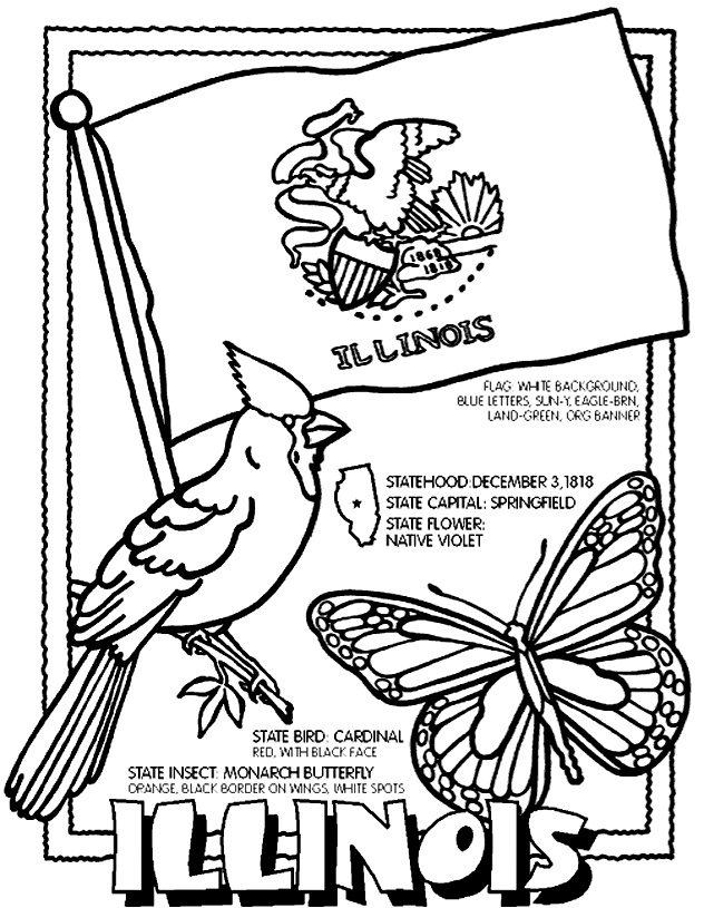 coloring pages 50 states - photo#1