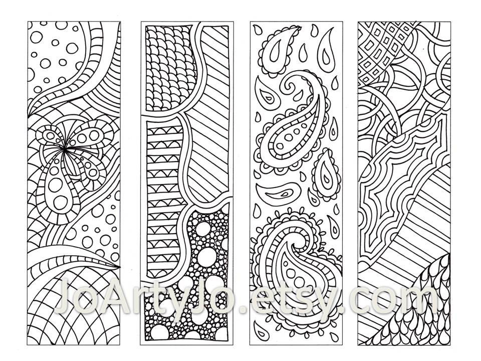 Printable Coloring Bookmarks Free : Free bookmarks to colour coloring pages