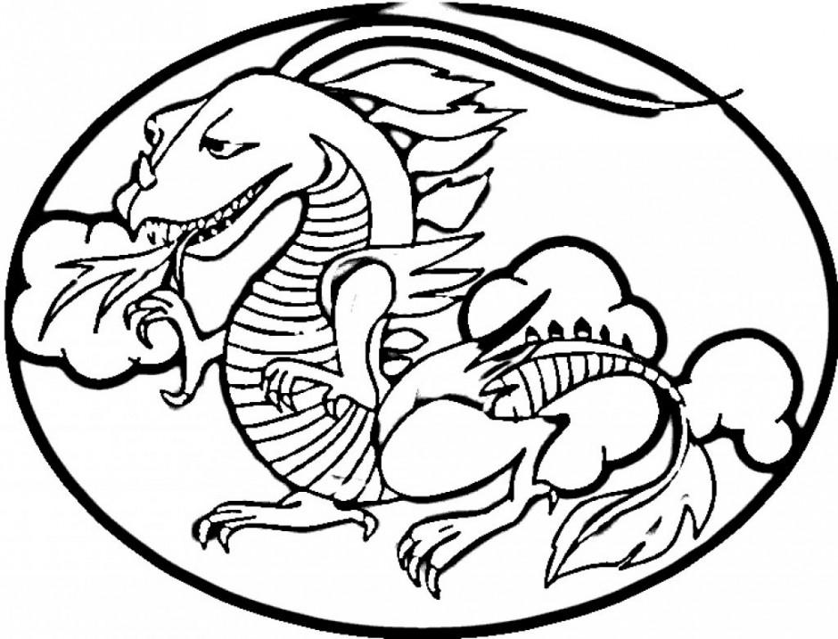 Chinese Dragon Printable