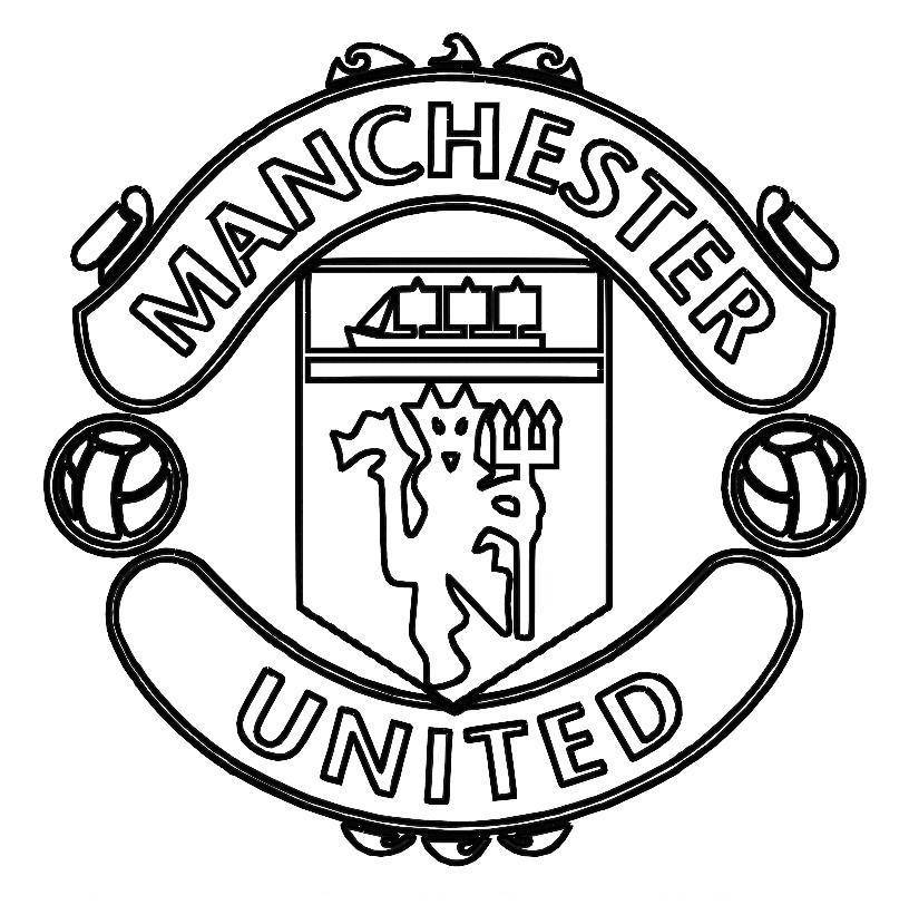 Free Soccer Coloring Pages Coloring Home Manchester United Colouring Pages