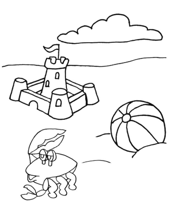 sand castle coloring pages - photo#28