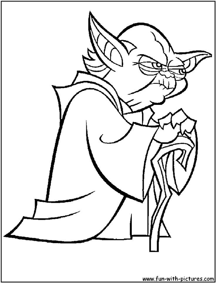 Stuff to color coloring home for Yoda coloring pages
