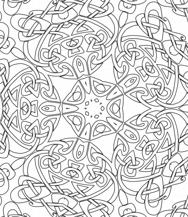 advanced holiday coloring pages - photo#7
