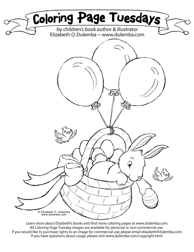 dulemba: Coloring Page Tuesday - Bunny Egg Drop