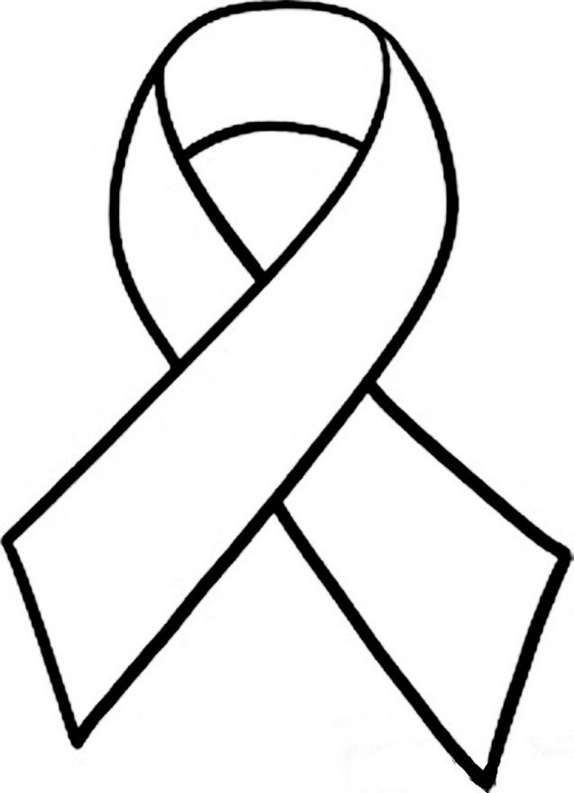 Cancer Ribbon Coloring Page