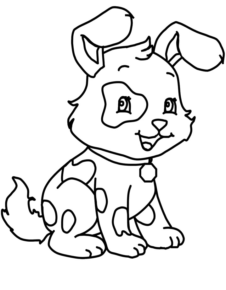 a very cute little dog coloring page dog coloring pages