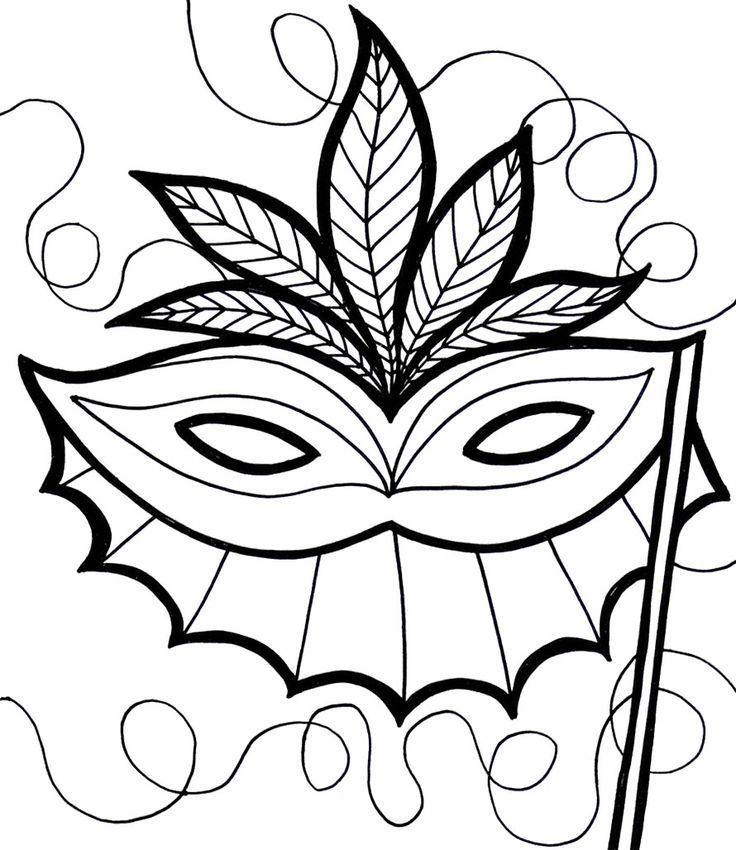 The gallery for mardi gras coloring pages for kids for Coloring pages masks