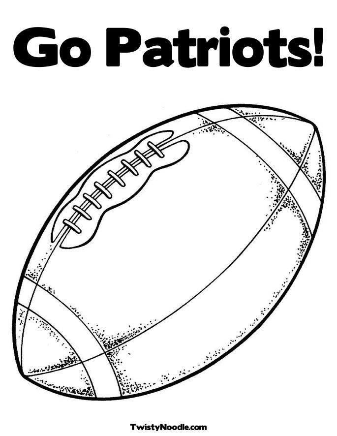 football coloring pages patriot - photo#8