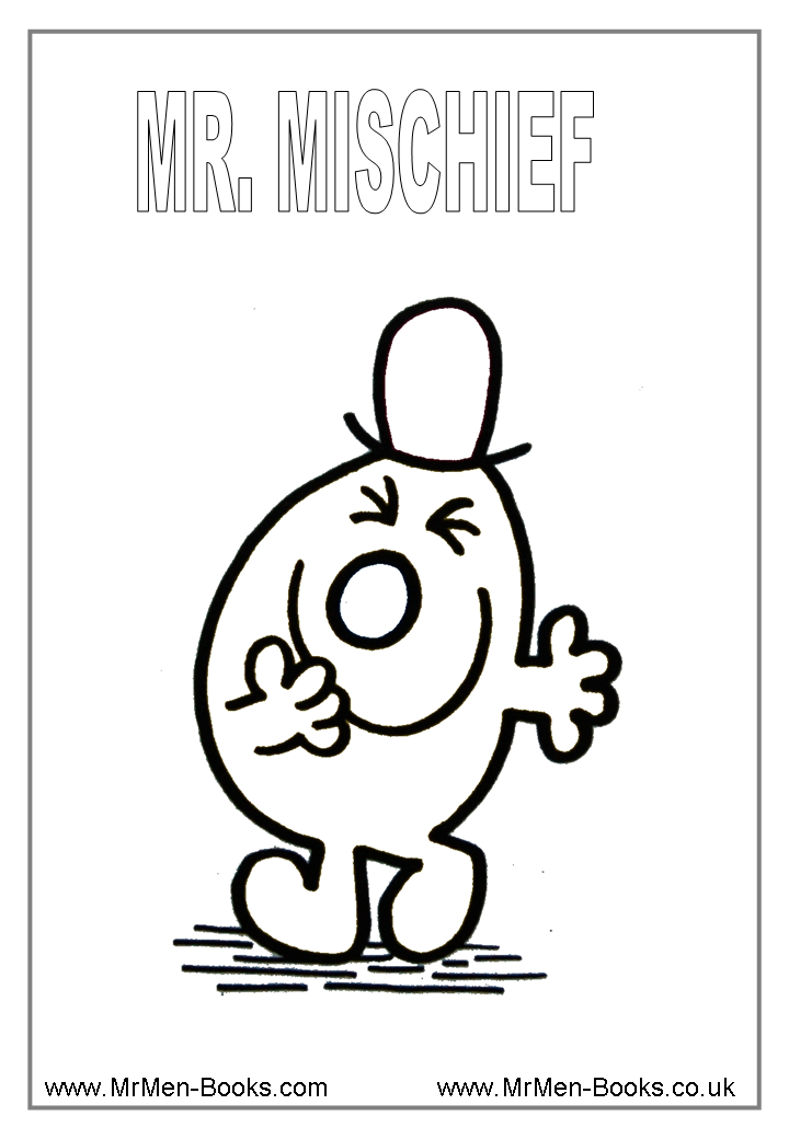 mr men coloring pages - photo#4