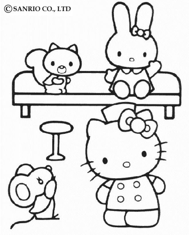 Hello Kitty Info - Coloring Home