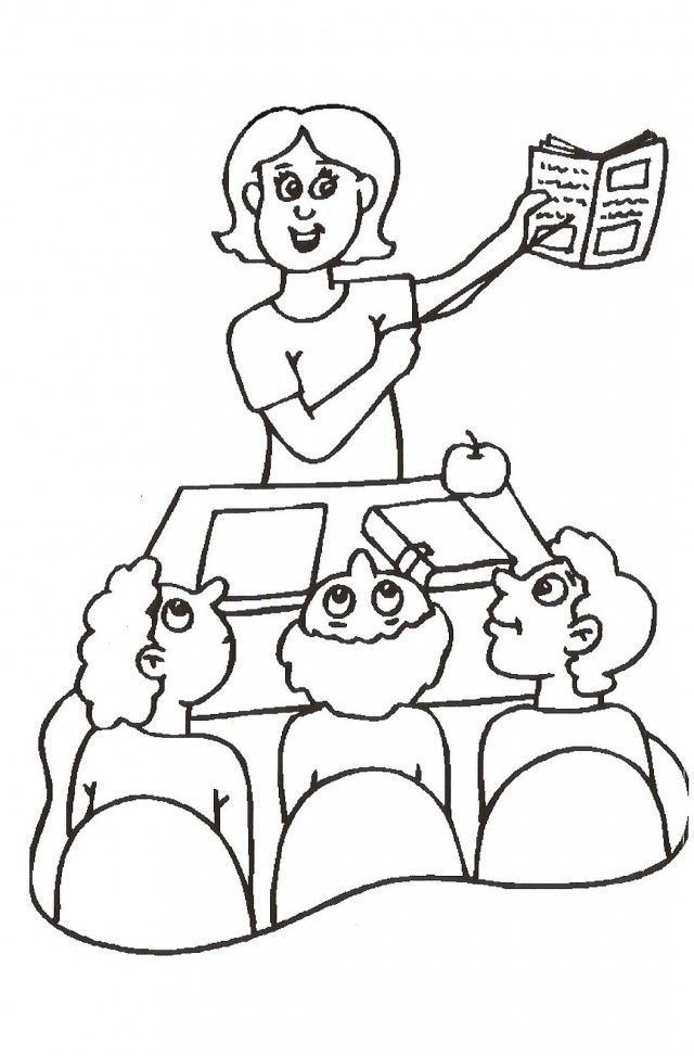 Teacher appreciation coloring pages coloring home for Coloring pages of teachers