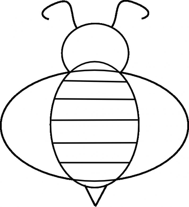 Bee printable coloring home for Bee coloring pages for kids