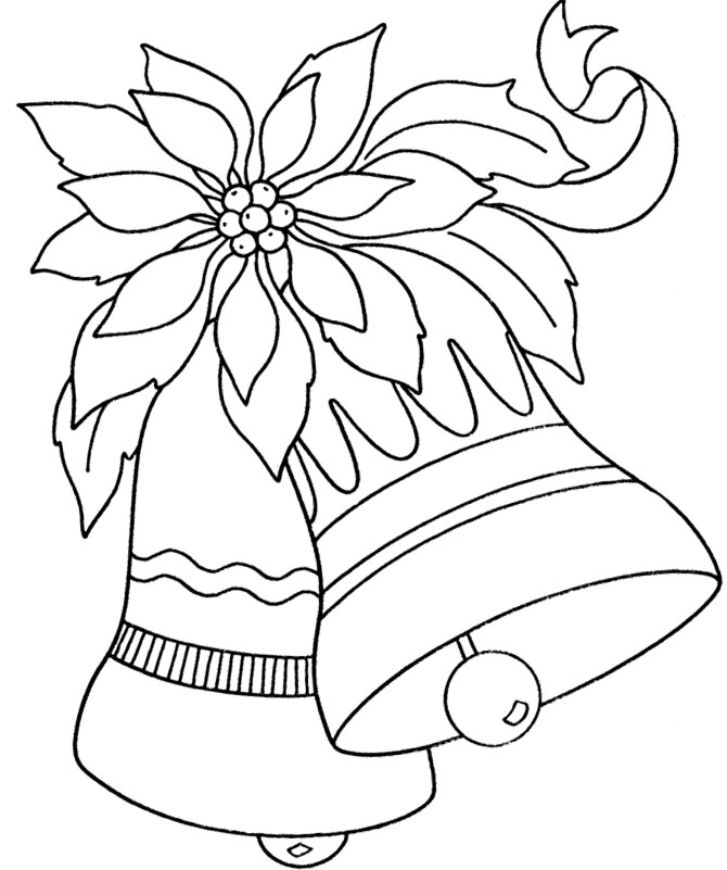 Bell Flowers Drawing Christmas Bell Ornaments Large