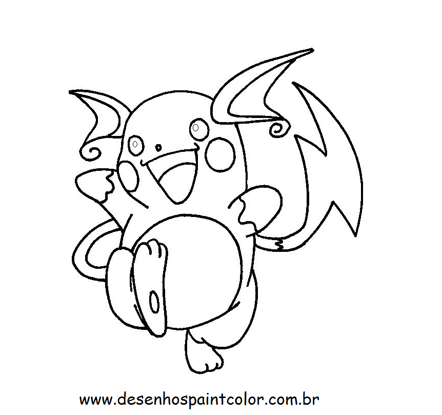 Raichu Coloring Pages Coloring Home